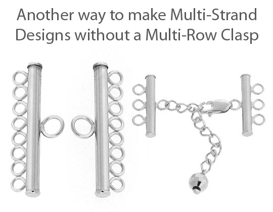 Connectors and Dividers for Multi-Row Necklaces and Bracelets