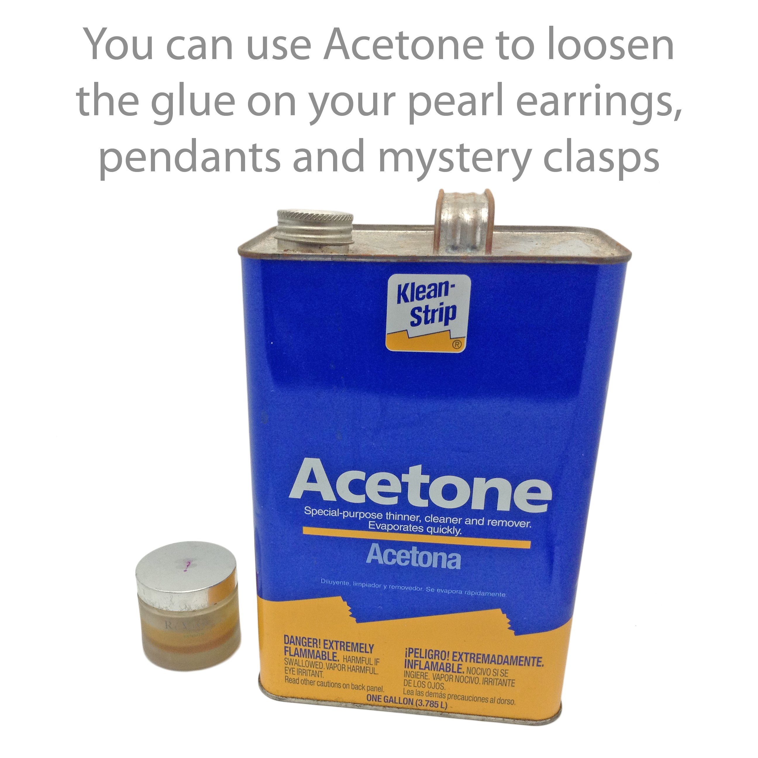 Acetone for Removing Glue from Pearls