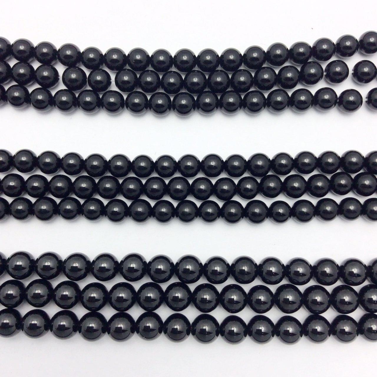 Black Onyx, Black Tourmaline, Black Spinel Beads
