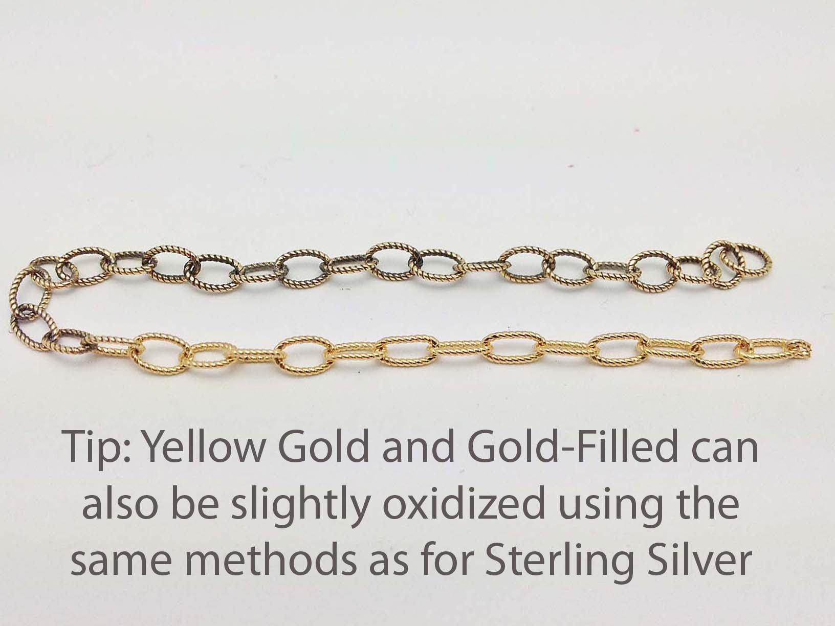Oxidized Gold Filled Chain