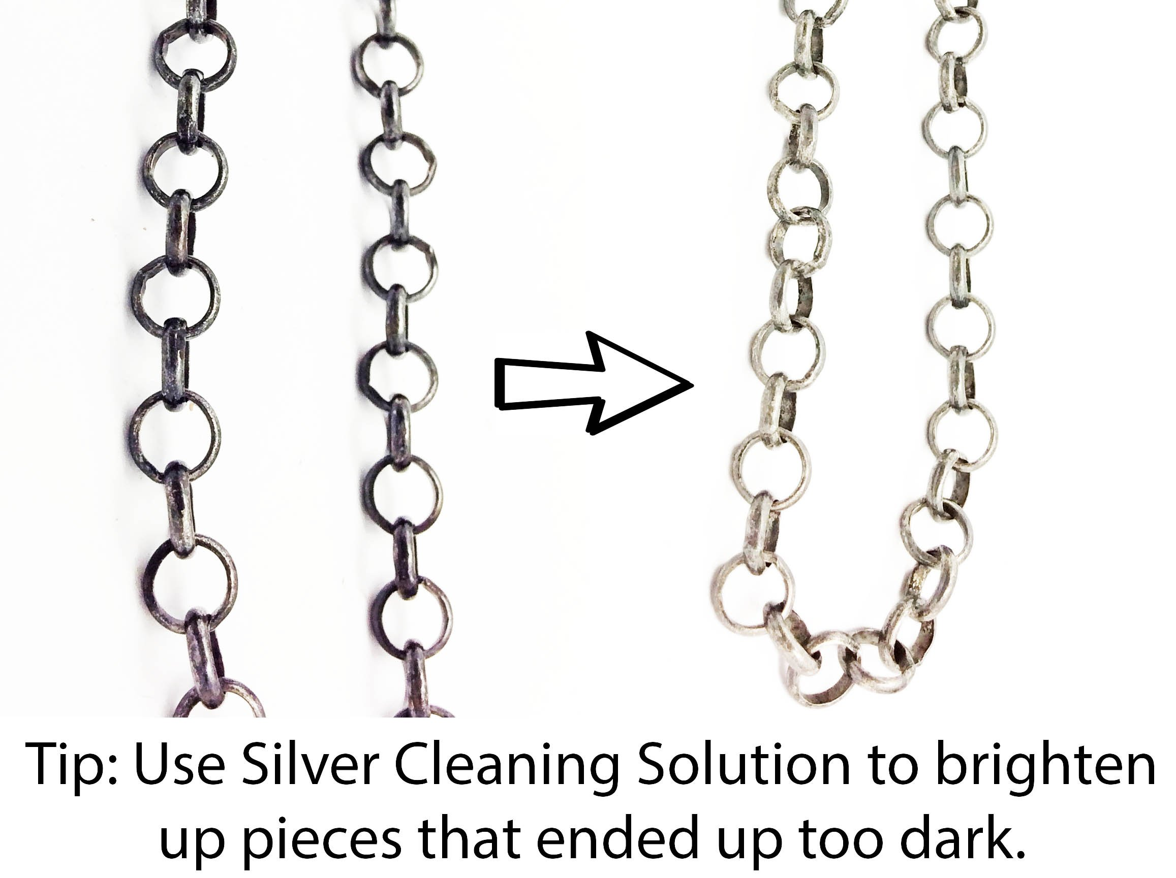 If your Silver got too dark, then you can put it in Silver cleaning liquid to brighten it up a little bit.