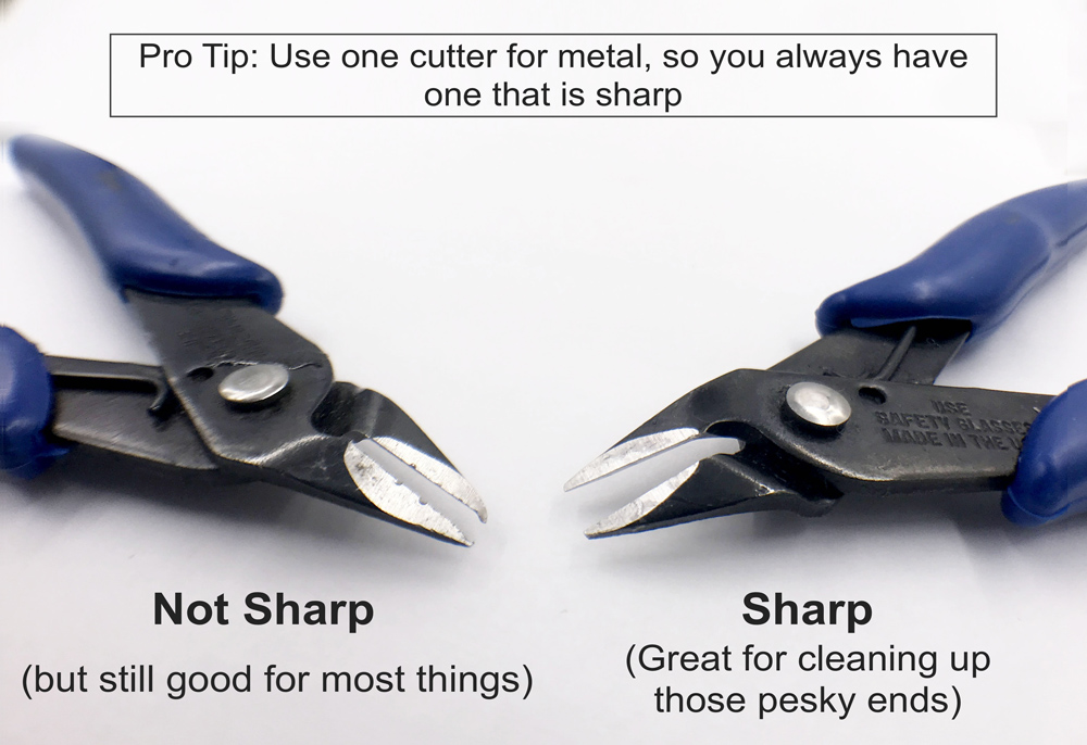 Pro-Tip: Use one cutter for metal, so you always have one that's sharp.