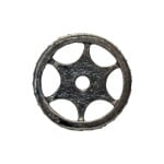 16mm Oxidized Sterling Silver Single Row Pave Champagne Diamond Roundel