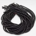 6mm Round Onyx/Black Agate Beads