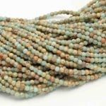 Blue Opal Beads By Strand