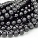 8mm Round Onyx/Black Agate Beads