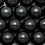 16mm Round Onyx/Black Agate Beads
