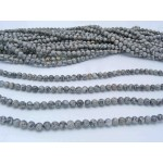 6mm Grey Crazy Lace Agate Smooth Round Beads