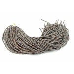3-4mm Natural Black Kamagong Wood Round Beads