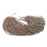 3-4mm Natural Brown Kamagong Wood Round Beads