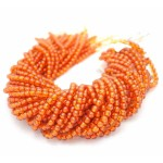 6mm Amber Resin Round Smooth Beads, Cognac Color