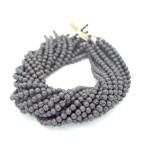 6mm Black Lava Round Beads