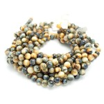 Gold and Blue Tigers Eye Beads By Strand