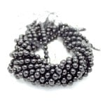 10mm Black Tourmaline Smooth Round Beads