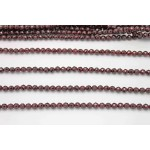 6mm Garnet Faceted Round Beads (A- Quality)