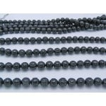 10mm Onyx/Black Agate Carved Dragon Ball Beads