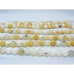 16mm White Opal Smooth Round Beads