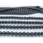 10mm Black Obsidian Smooth Round Beads