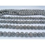 14mm Grey Crazy Lace Agate Faceted Round Beads