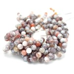 10mm Botswana Agate Faceted Round Beads