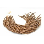 3-4mm Robles Wood Round Beads