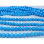 12mm Magnesite Smooth Round Beads, Blue Color