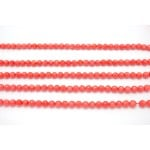 8mm Dyed Salmon Bamboo Coral Faceted Round Beads