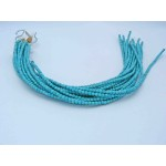 4mm Magnesite Faceted Round Beads, Light Blue Color with Veins