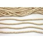 6mm Dyed White Wood Round Beads