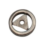 10mm Oxidized Sterling Silver Single Row Pave Champagne Diamond Roundel, High Clarity Champagne Diamonds