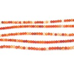 6mm Red Agate Smooth Round Beads