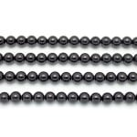8mm Black Tourmaline Smooth Round Beads