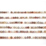 4mm Botswana Agate Faceted Round Beads