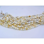 12mm White Opal Smooth Round Beads
