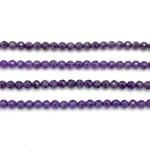 Dark Amethyst Beads by Strand