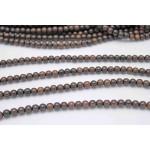 6mm Natural Brown Kamagong Wood Round Beads